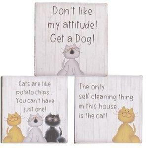 NWT Cat Attitude Block Set